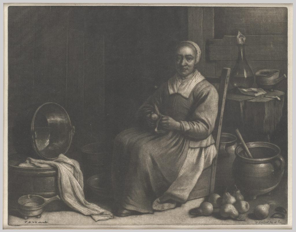 Валлеран Вайан. Женщина, чистящая персики