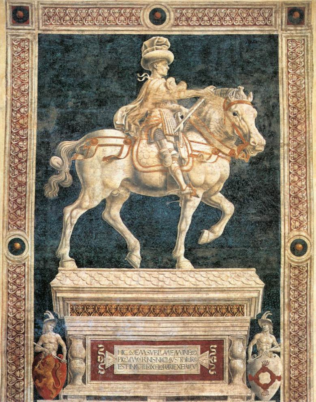Андреа дель Кастаньо. Памятник Никколо да Толентино