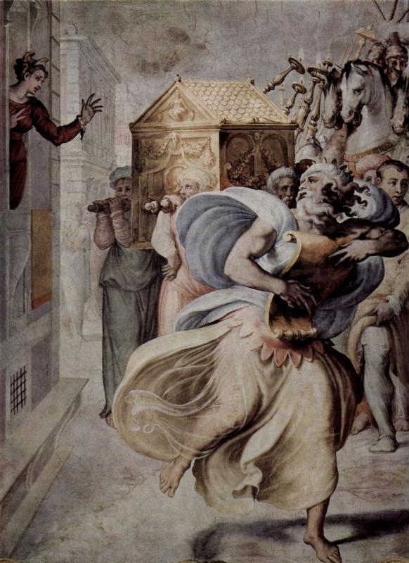 Francesco Salviati. David dancing before the sacred ark