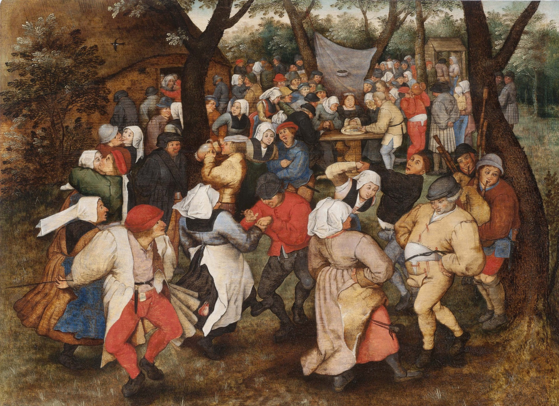 Peter Brueghel The Younger. Wedding dance in the lap of nature