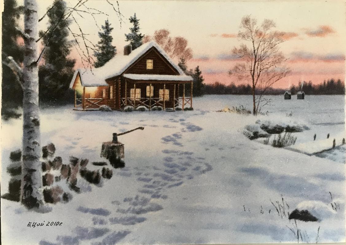 Boris Tkhanovich Tsoi. Winter morning in the country