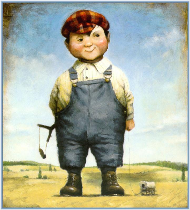 Дэвид Шеннон. Мальчик с рогаткой