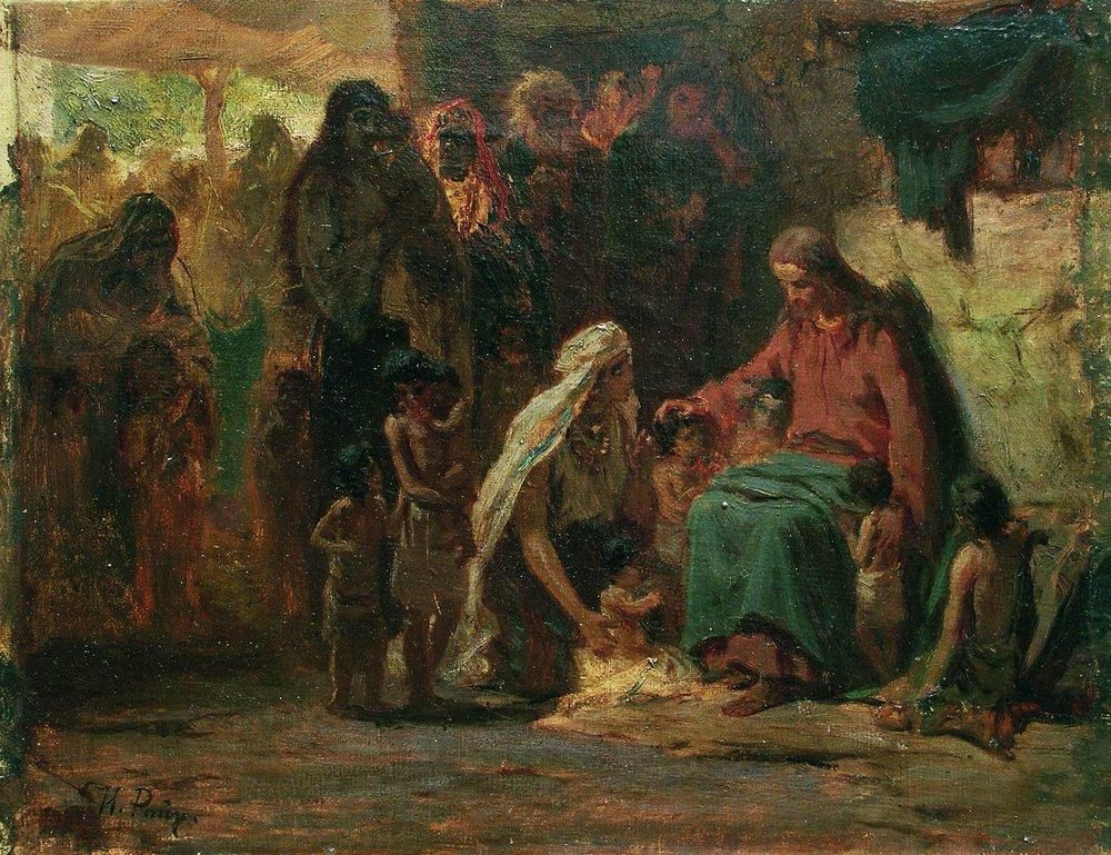 Илья Ефимович Репин. Благословение детей (на евангельский сюжет)