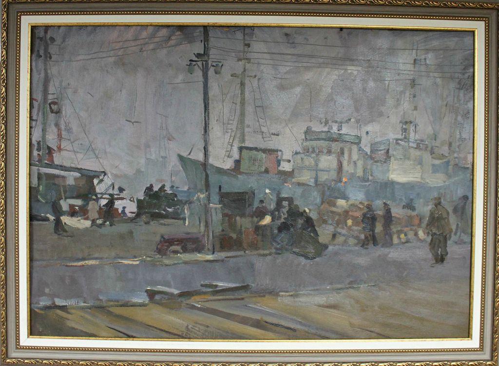 Petr Filippovich Alberti. In the port