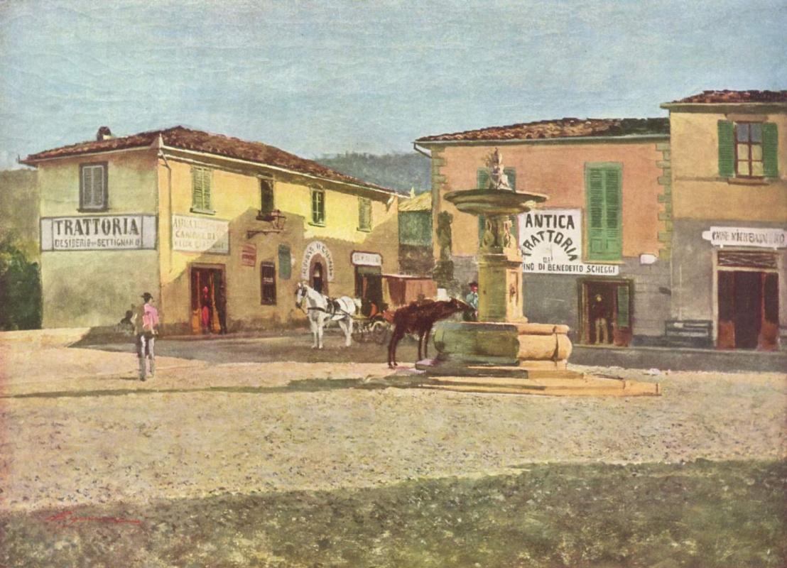 Телемако Синьорини. Вид Пьяццетты в Сеттиньяно