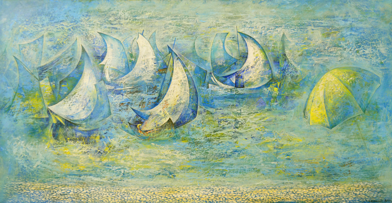 Amur Kochishvili. She will be mine. Sails in the rain.
