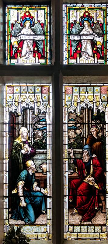 Уильям Моррис. Витражное окно в Старом доме для собраний, Мэнсфилд, Ноттингемшир