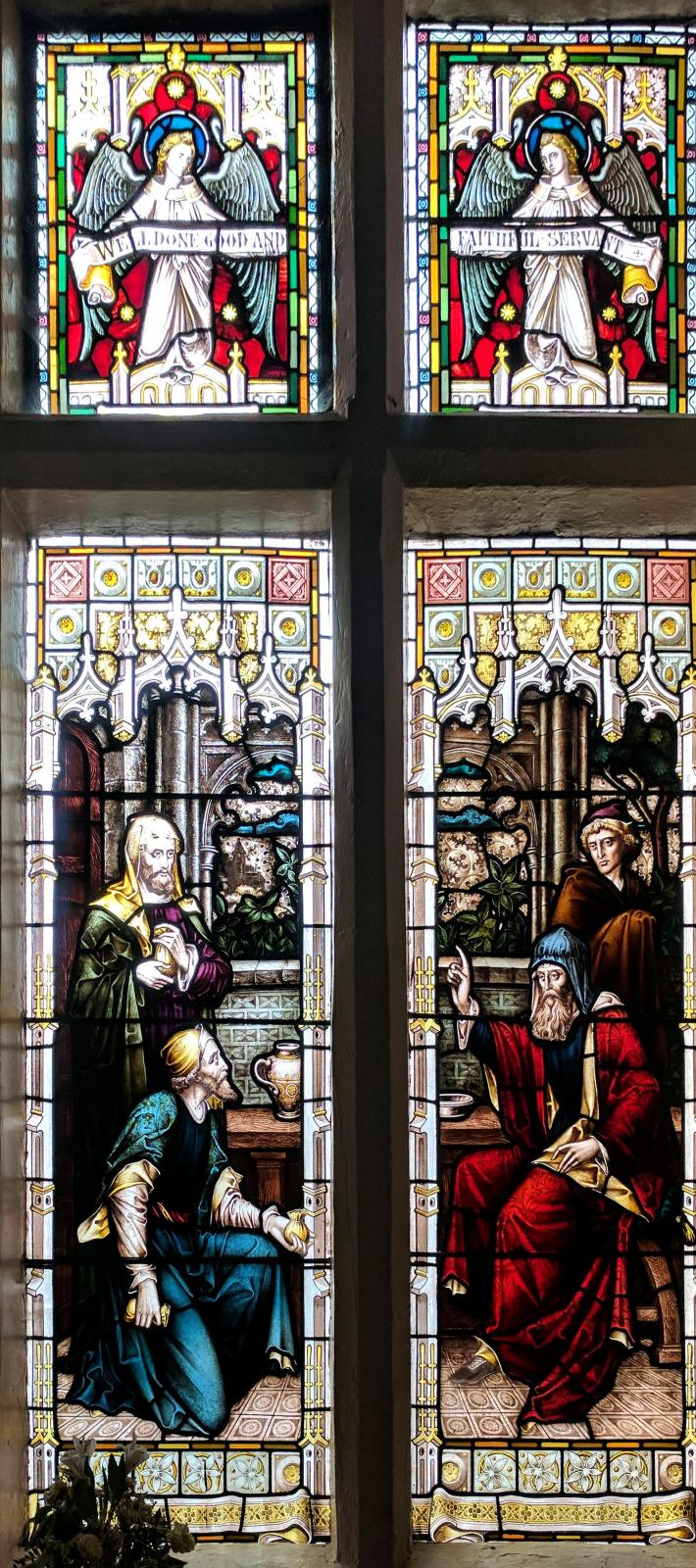 William Morris.  Vitrail dans la vieille salle de réunion, Mansfield, Nottinghamshire
