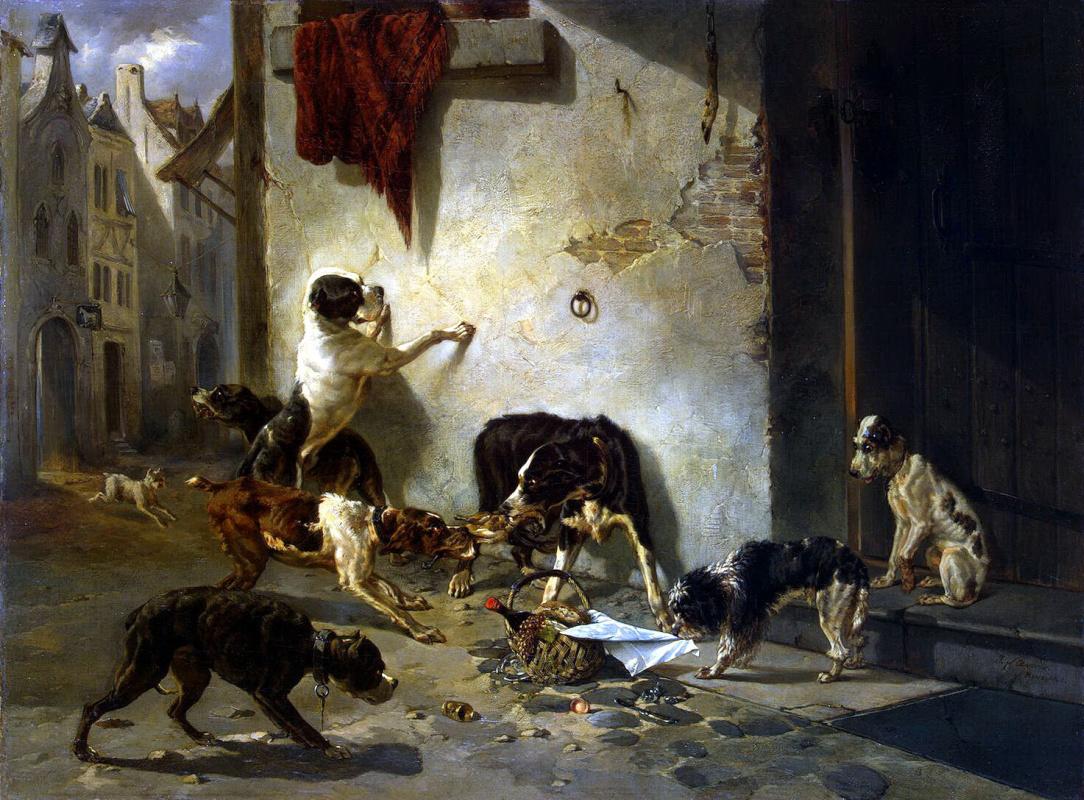 Жозеф Стевенс. Собака, несущая обед своему хозяину