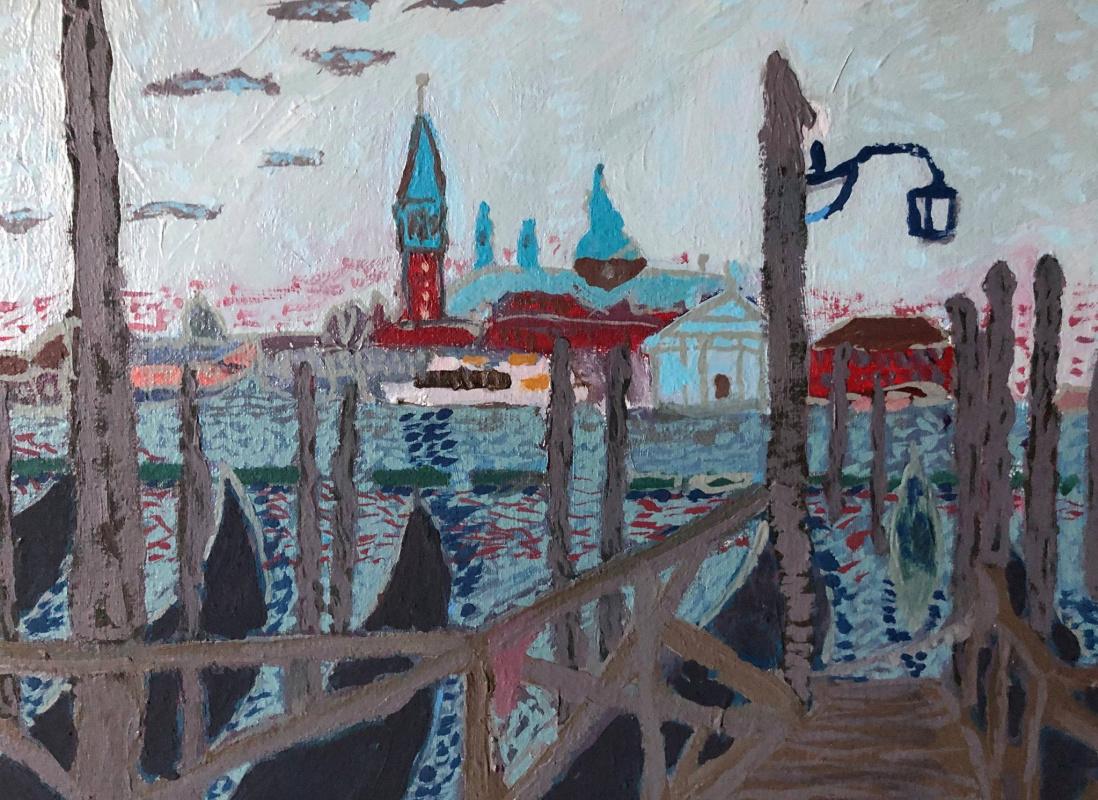 Sergey Vladimirovich Sebini. Dawn in Venice. View from Piazza San Marco