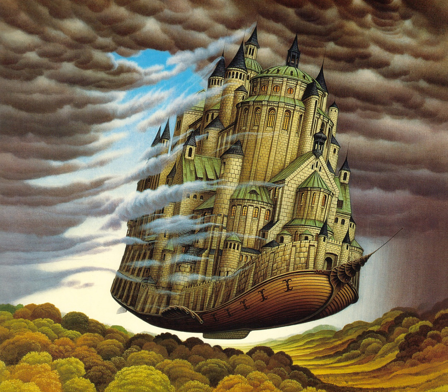 Jacek Yerka. Cloud Destroyer