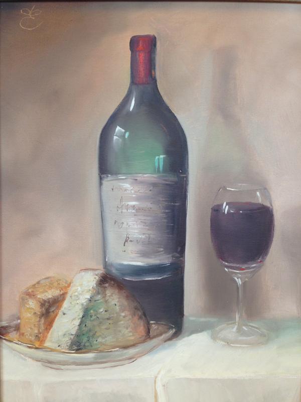 Дмитрий Еременко. Still life, сheese and wine