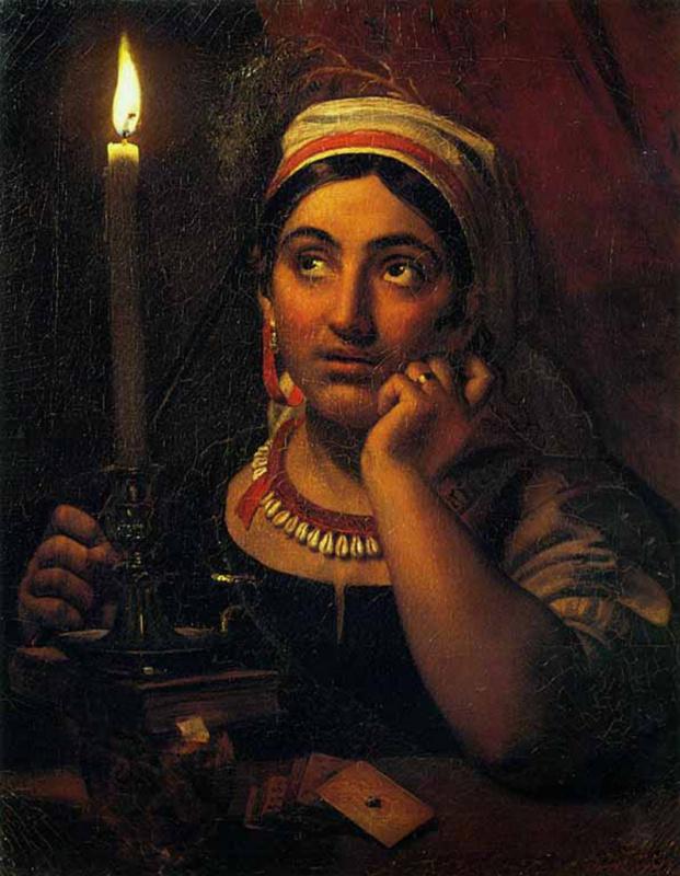 Orest Adamovich Kiprensky. Vorozheya with a candle