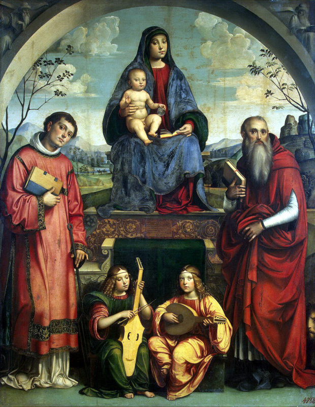 Франческо Франча. Мадонна с Младенцем, Святыми Лаврентием и Иеронином