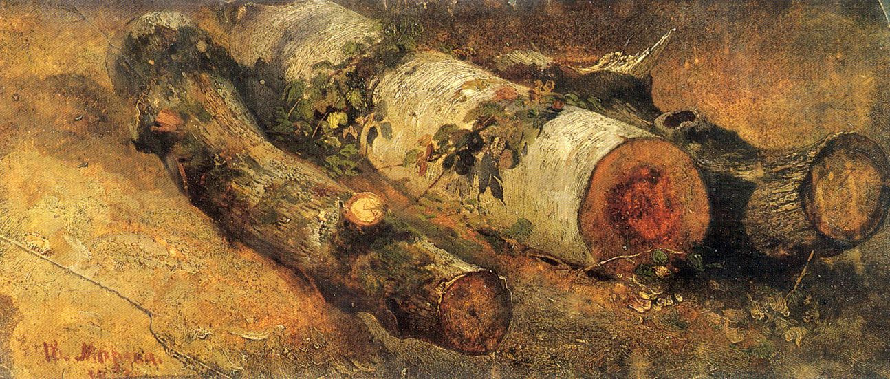 Ivan Ivanovich Shishkin. Felled birch
