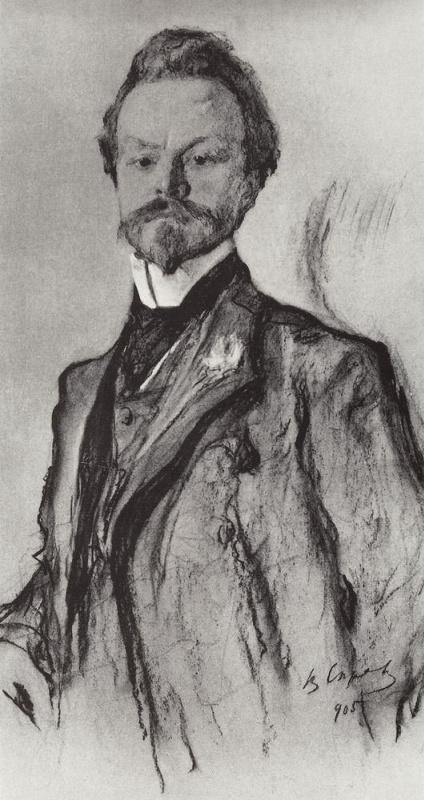 Valentin Aleksandrovich Serov. Portrait of the poet K. D. Balmont