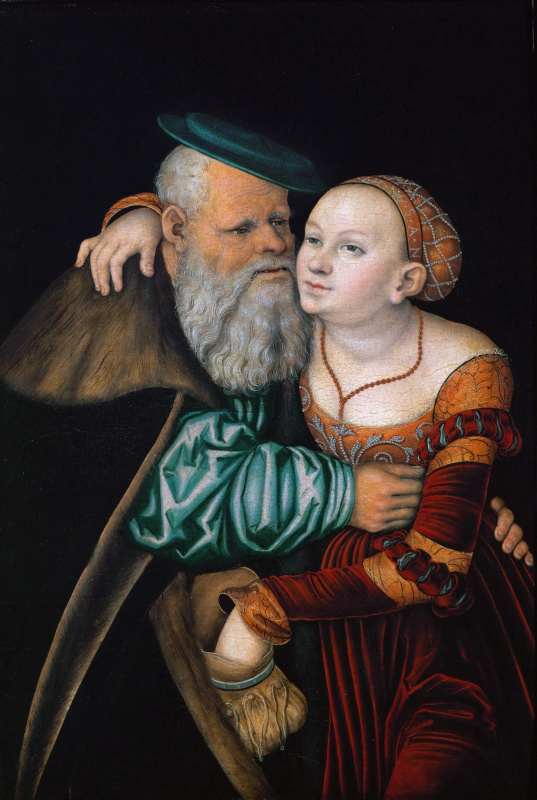 Lucas Cranach the Elder. The courtesan and the old man
