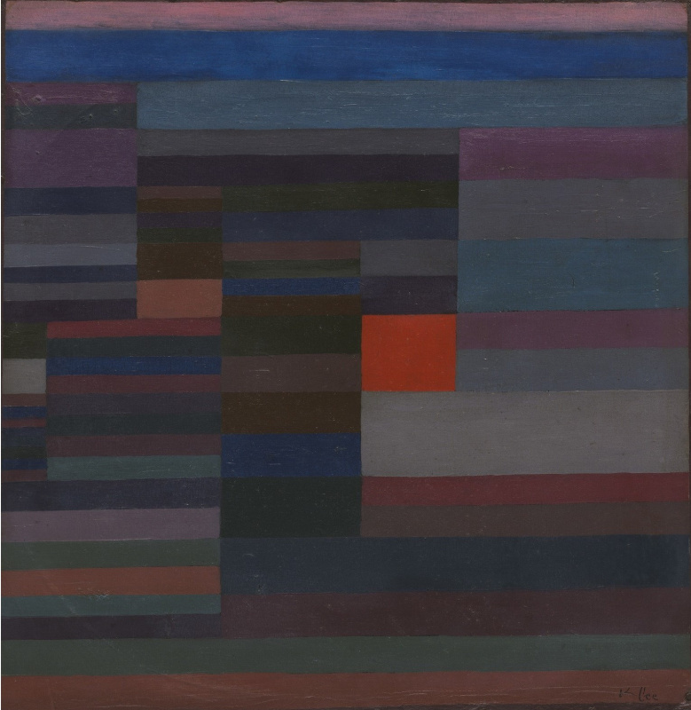 Paul Klee. Fire in the Evening