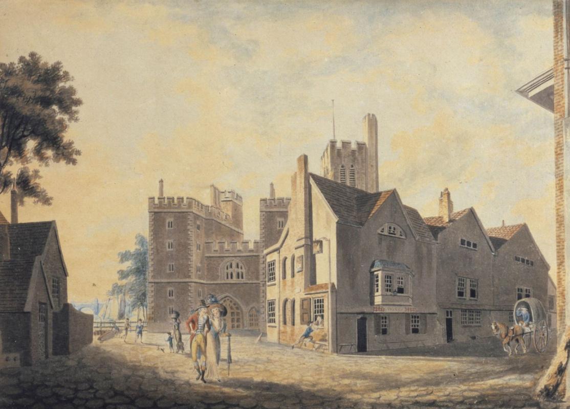 Joseph Mallord William Turner. The Archbishop's Palace at Lambeth
