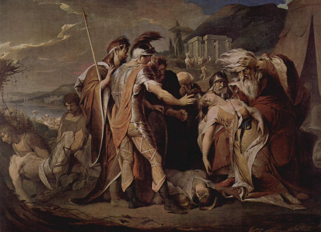 James Barry. King Lear mourns Cordelia