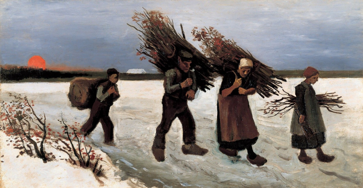 Винсент Ван Гог. Собиратели хвороста на снегу