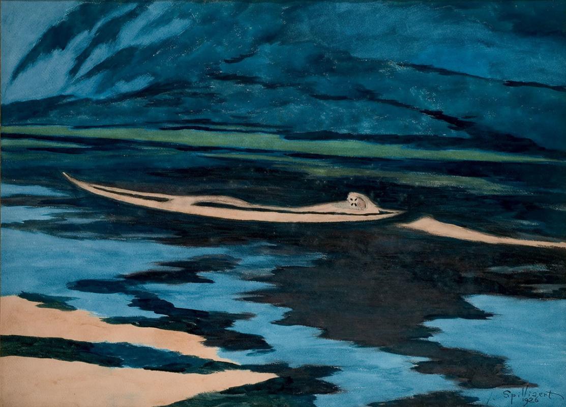 Leon Spilliaert. Shipwrecked man