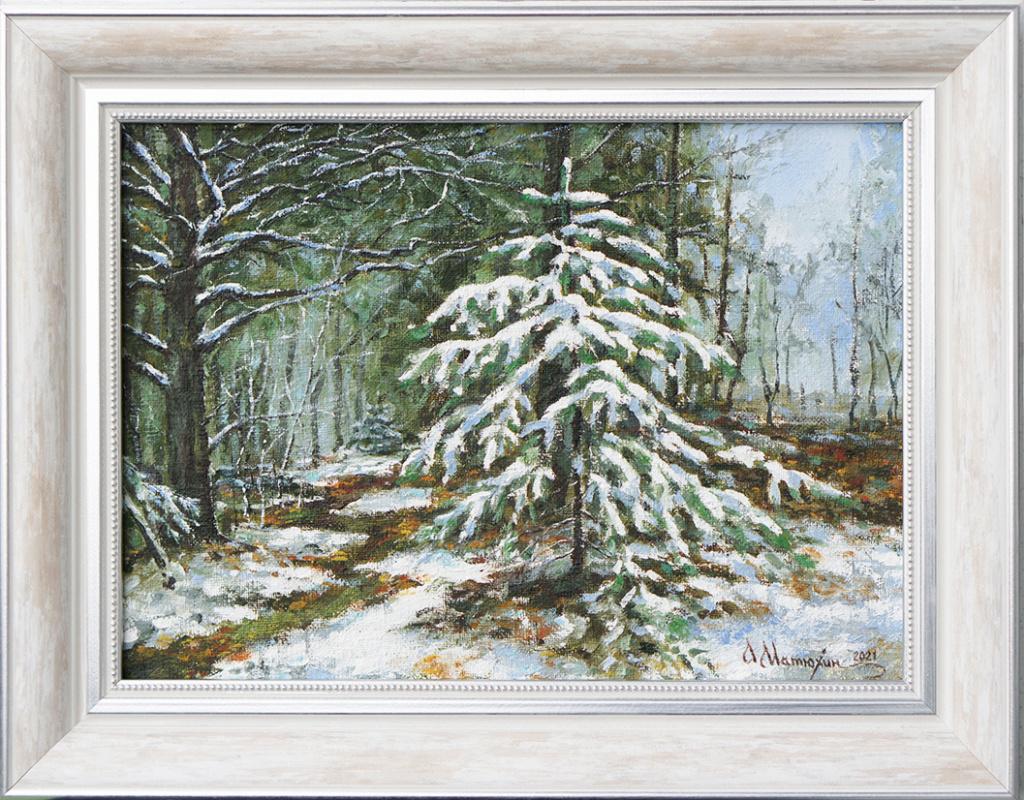 Alexander Matyukhin. 2021. First snow (oil on canvas 25x35 cm)