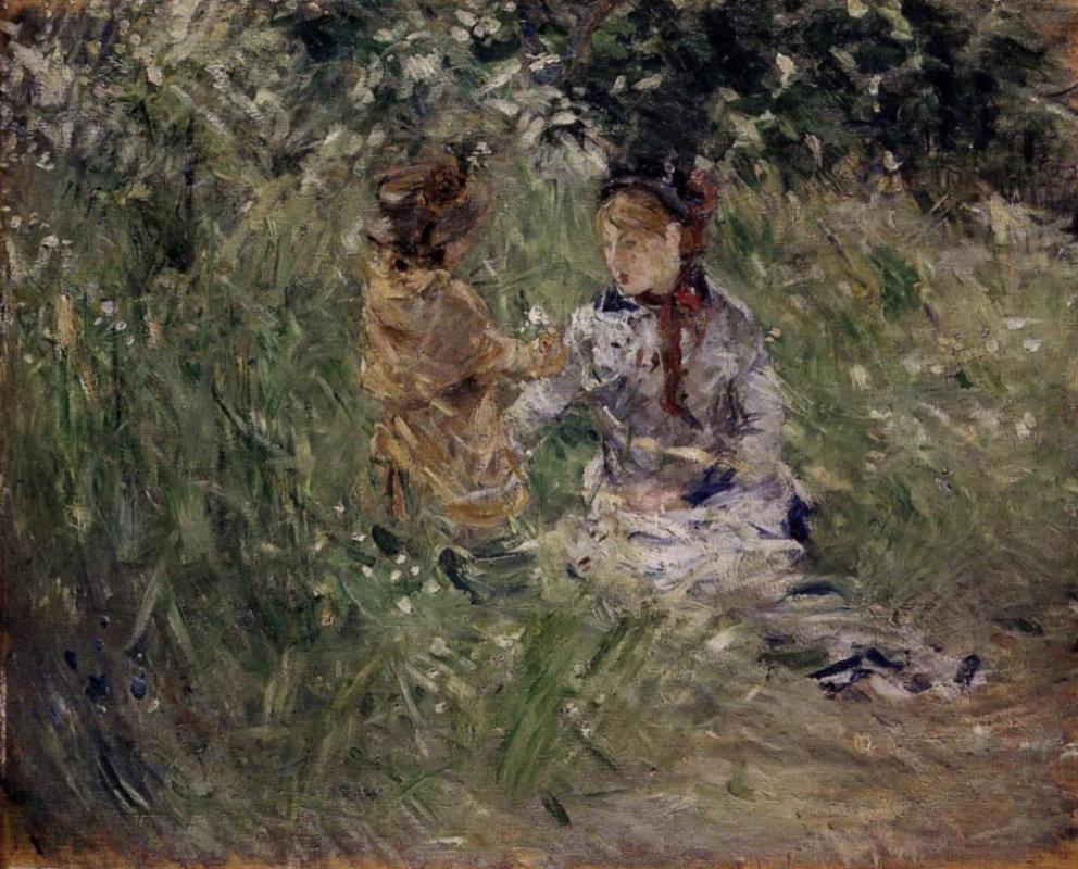 Берта Моризо. Жюли и Паси в саду в Буживале