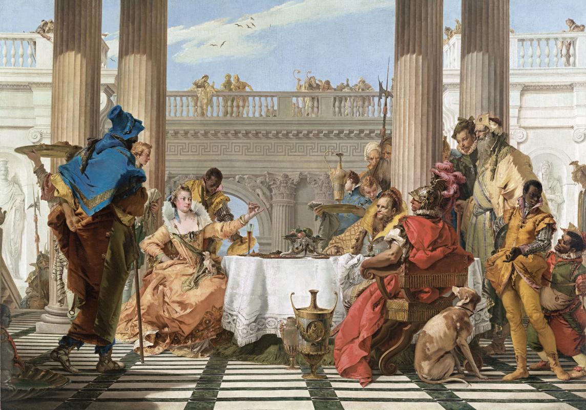 Giovanni Battista Tiepolo. Cleopatra's Feast