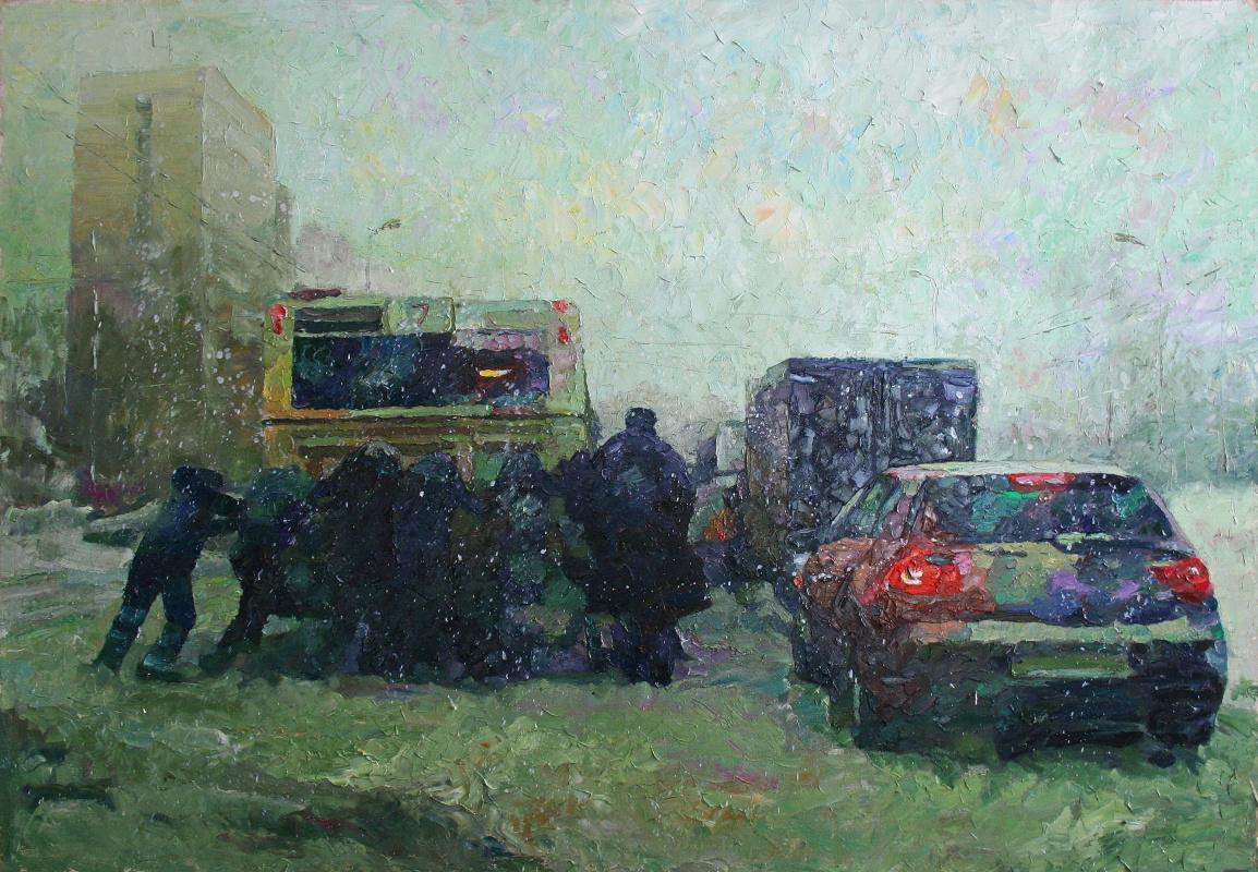 Mikhail Rudnik. Snowfall