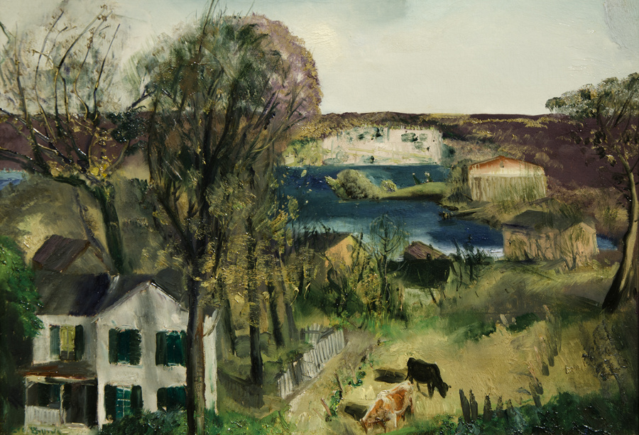 George Wesley Bellows. The Hudson at Saugerties