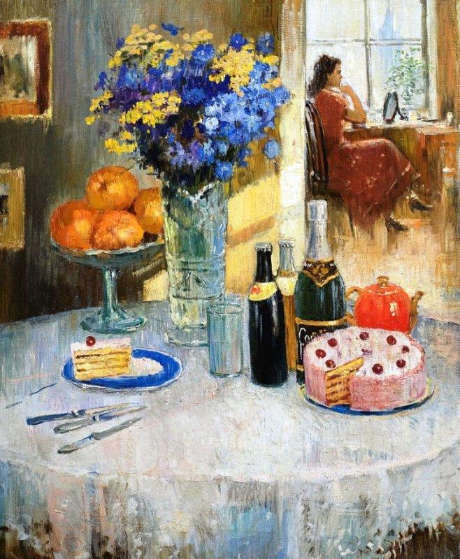 Юрий Иванович Пименов. Богато накрытый стол