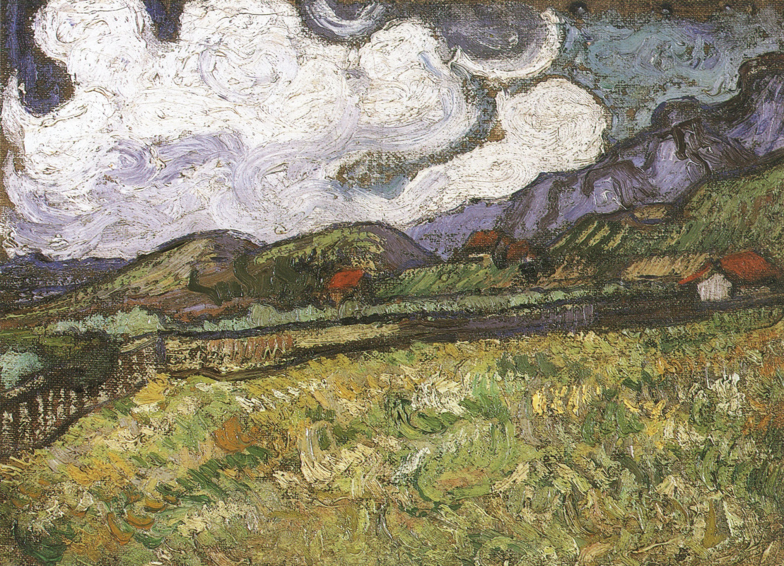 Vincent van Gogh. Wheat field behind hospital St. Paul's