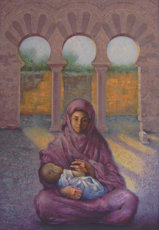 Juan Sanchez Rodriguez. A mother and child