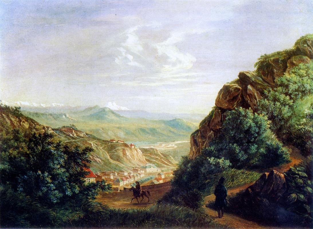 Mikhail Yurjevich Lermontov. View of Pyatigorsk