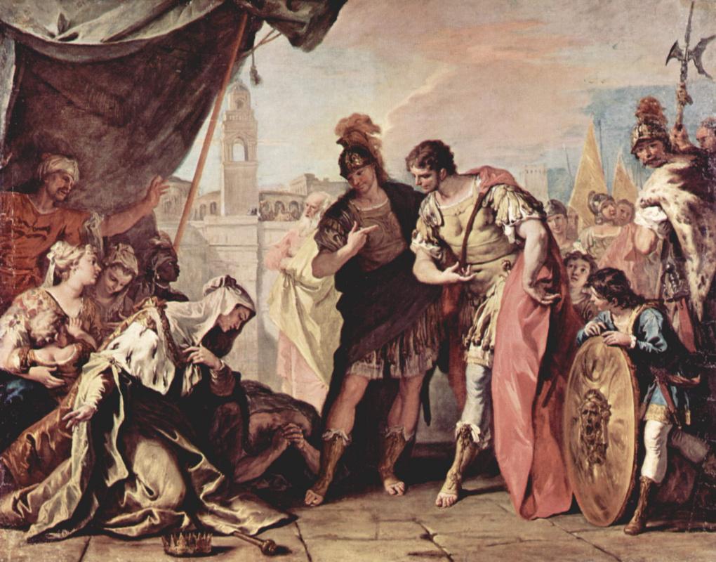Sebastiano Ricci. The family of Darius before Alexander the great