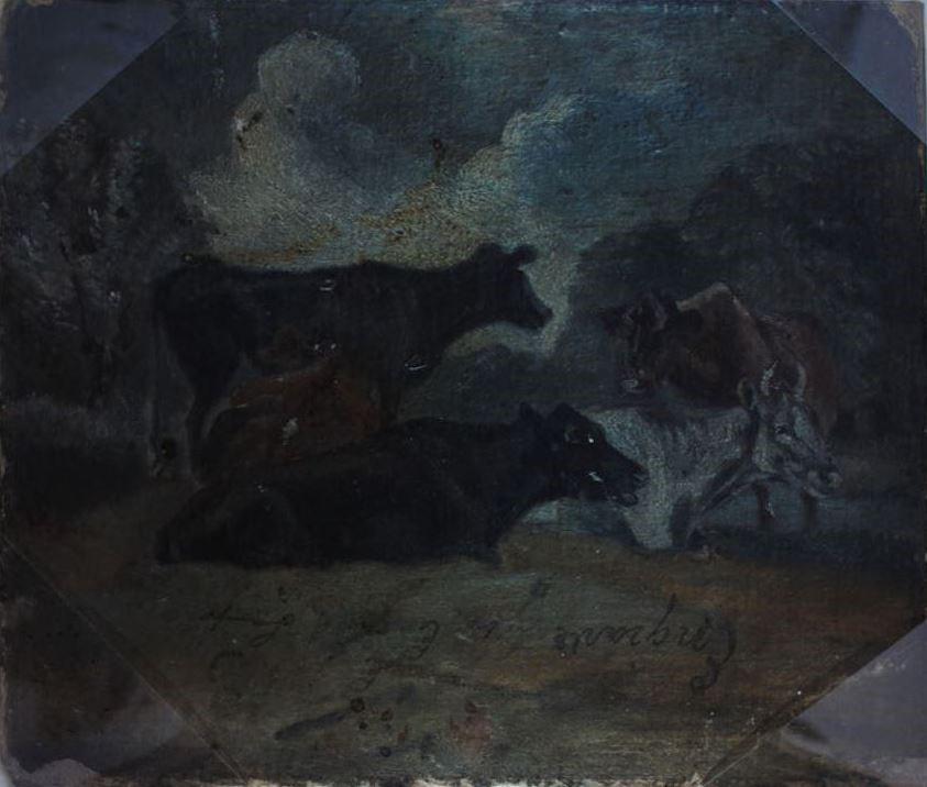 John Constable. Kine. Sketch