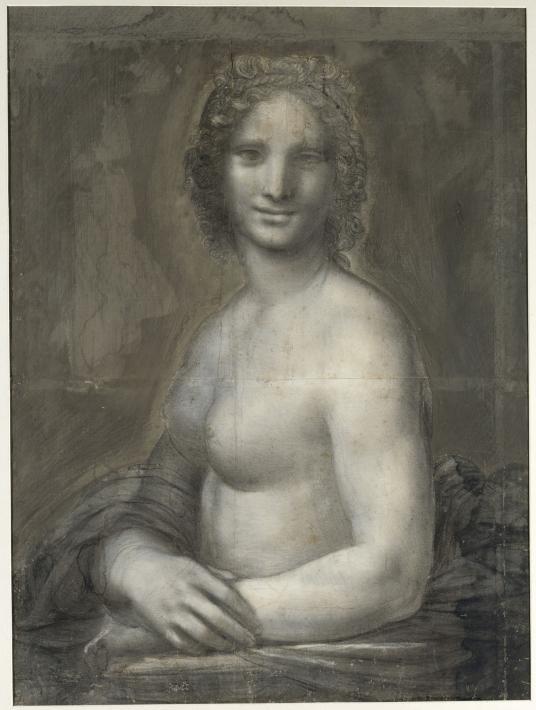 Leonardo d Vinci's studio. Mona Vanna, the Nude Mona Lisa