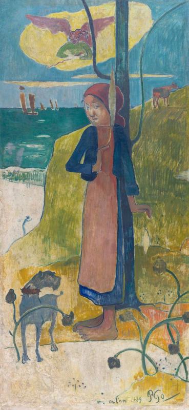 Поль Гоген. Жанна Д'Арк или Бретонка с прялкой