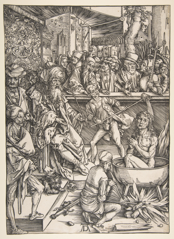 Albrecht Durer. The Martyrdom Of St. John. From the series the Apocalypse.