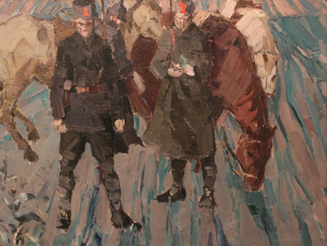 "Boris Pavlovich Shagin. Study for the painting ""Awakening"""