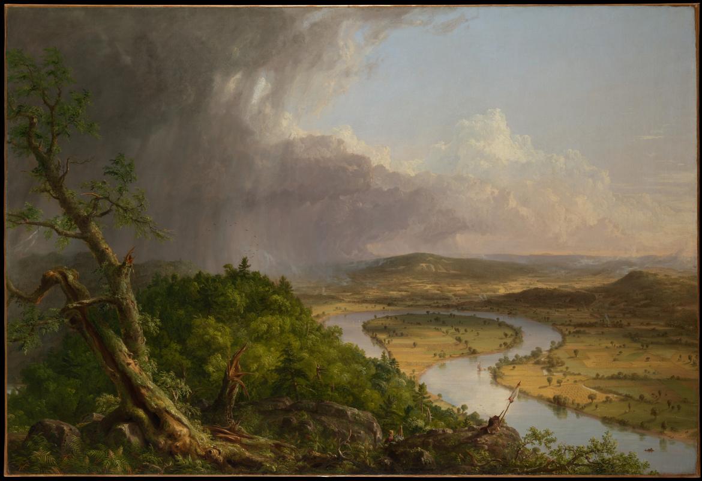 Томас Коул. Заводь. Вид с горы Холиок, Нортгемптон, штат Массачусетс, после грозы