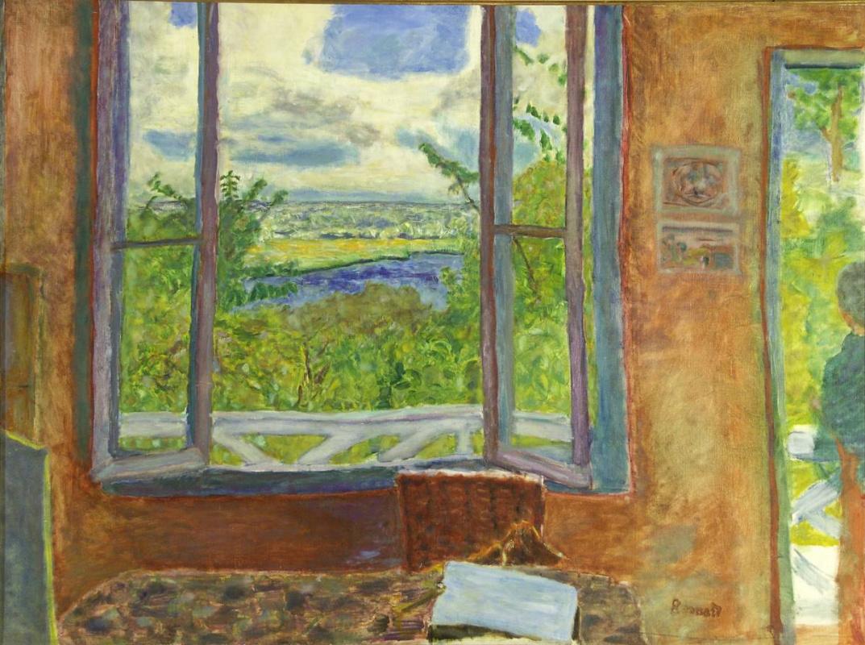 Пьер Боннар. Открытое окно с видом на Сену (Вернон)