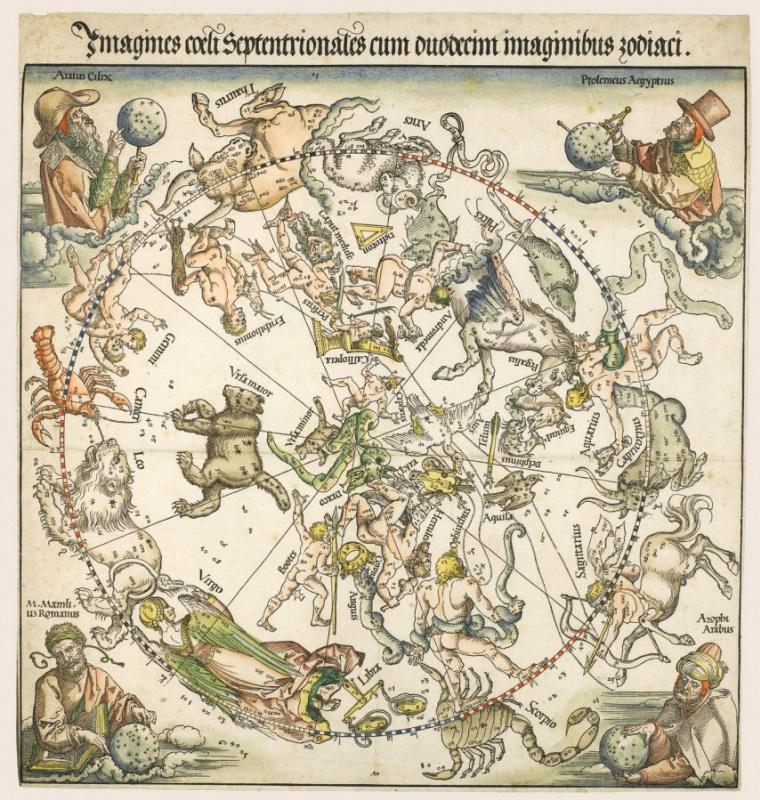 Albrecht Dürer. Map of the Northern sky