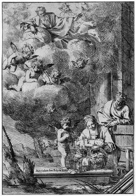 Джулио Карпиони Старший. Поклонение младенцу Иисусу