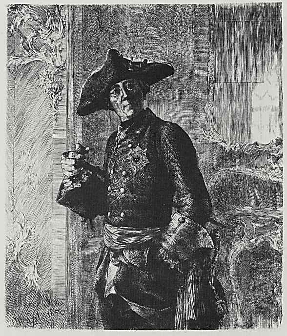 Адольф фон Менцель. Король Фридрих II