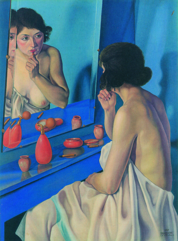Каньяччо ди Сан Пьетро. Женщина в зеркале (Наталино Бентивольо Скарпа)