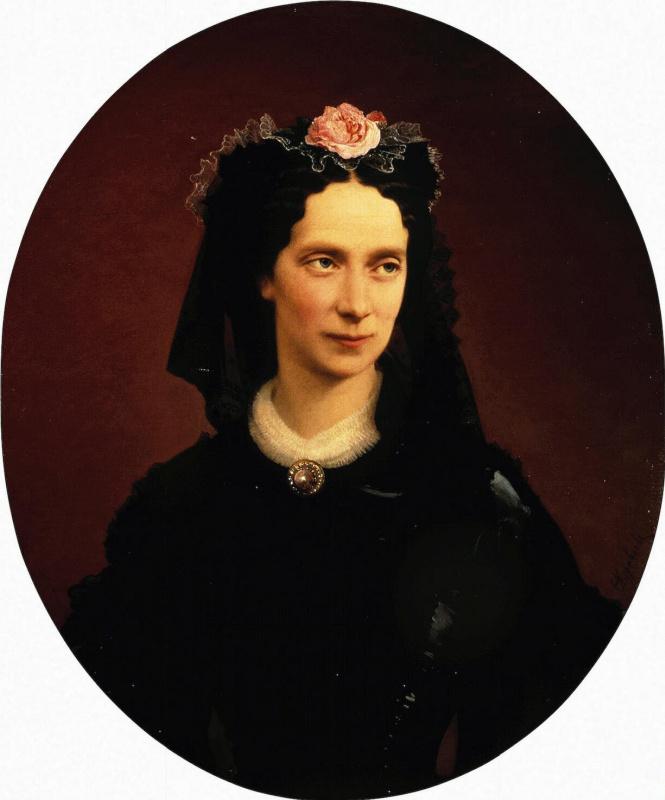 Firs Sergeevich Zhuravlev. Portrait of Empress Maria Alexandrovna