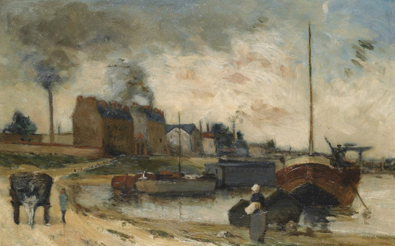 Paul Gauguin. The coal factory and the quay of Grenelle