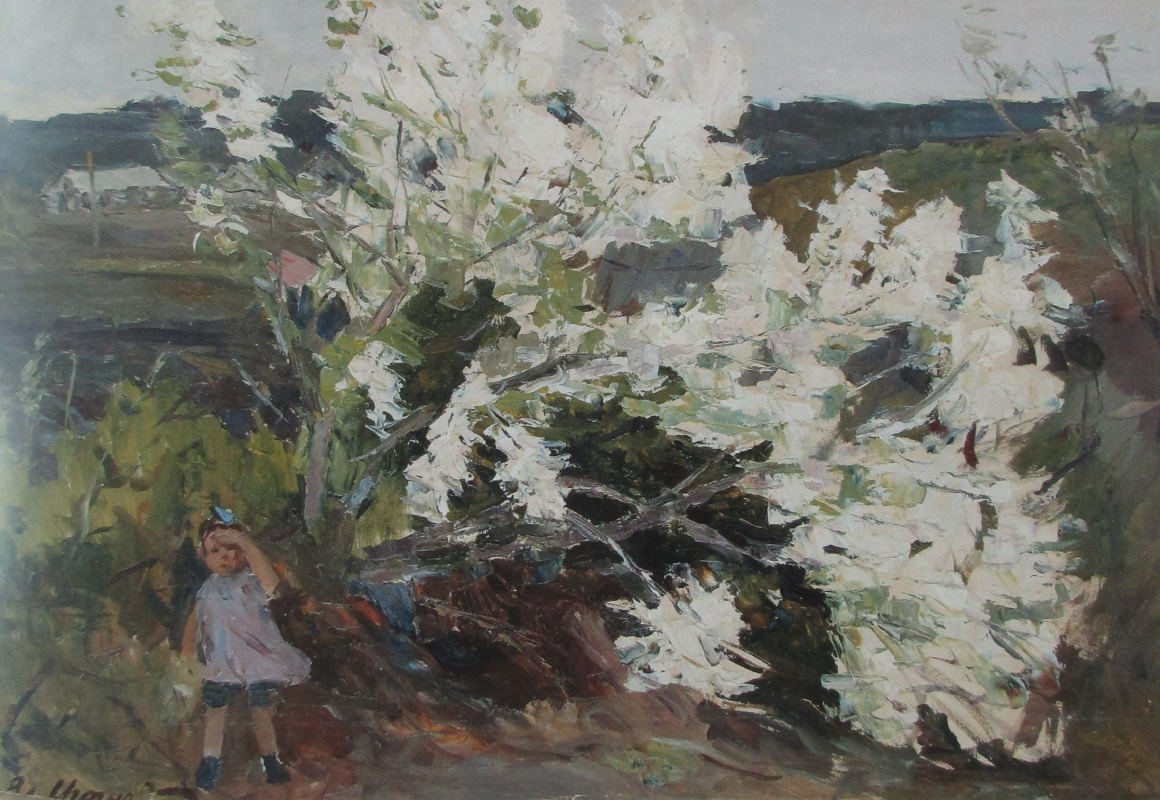 Igoshev V.A.. Apple tree blooms.